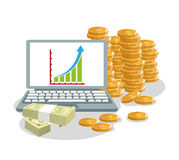 Coins businness and financial design Royalty Free Stock Photo