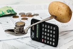 Coins, Calculator, Budget Stock Images