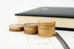Coins chart Royalty Free Stock Photos