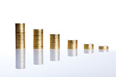 Coins chart Royalty Free Stock Photo