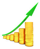 Coins chart Royalty Free Stock Photography