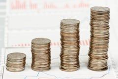 Coins chart Stock Photos