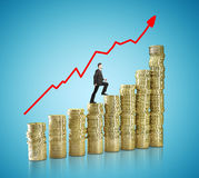 Coins chart Royalty Free Stock Image