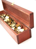 Coins in the Chest Stock Photography