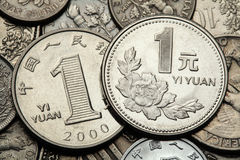 Coins of China Stock Photography