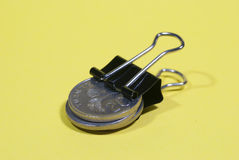 Coins with clip Stock Images
