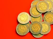 Coins - close-up Royalty Free Stock Photos