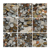 coins collage Arkivfoton