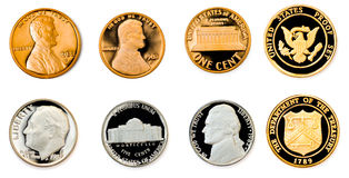 Coins collection Stock Images