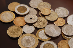 Coins collection. Collection of Coins from all over the world.Foreign and domestic currency Stock Images