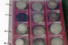 Coins collection Royalty Free Stock Photography