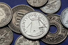 Coins of Colombia Stock Photo