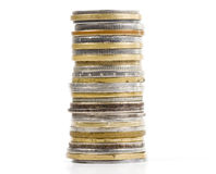 Coins in column Stock Image