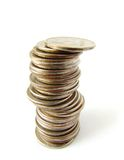 Coins column royalty free stock photography