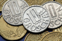 Coins of Croatia Stock Photography