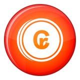 Coins cruzeiro icon, flat style Royalty Free Stock Photo