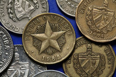 Coins of Cuba Stock Photography