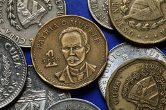 Coins of Cuba. Jose Marti. Stock Photography