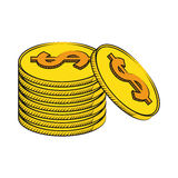 Coins currency money stack Royalty Free Stock Photo