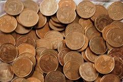 coins cypriot euro Fotografering för Bildbyråer