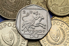 Coins of Cyprus Royalty Free Stock Image