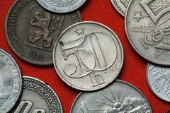 Coins of the Czechoslovak Socialist Republic Royalty Free Stock Photos