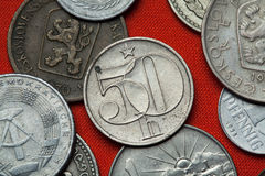 Coins of the Czechoslovak Socialist Republic Royalty Free Stock Photography