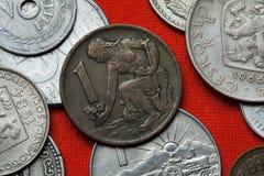 Coins of the Czechoslovak Socialist Republic Stock Photo