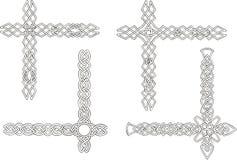 Coins décoratifs celtiques de noeud Image libre de droits