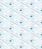 Coins 3D rayés bleus colorés Photographie stock libre de droits