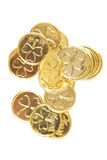 coins dagpatricksst Arkivbilder