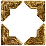 Coins de photo d'or photos libres de droits