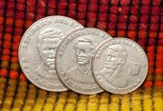 coins den ecuador republiken Fotografering för Bildbyråer