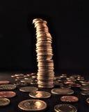 coins den instabila kolonnen Fotografering för Bildbyråer