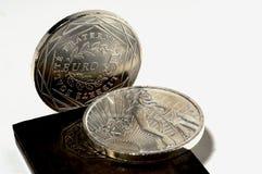 coins den sällan euroen Royaltyfri Fotografi