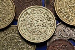 Coins of Denmark Stock Image