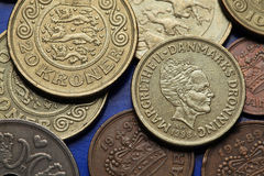 Coins of Denmark Stock Photos