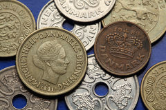 Coins of Denmark Royalty Free Stock Photography