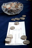 Coins for Deposit Royalty Free Stock Photo