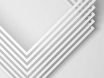 Coins des cadres de papier carré 3d rendent illustration libre de droits