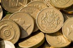 coins det engelska pundet Royaltyfria Bilder