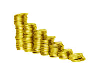 Coins diagram Royalty Free Stock Photos