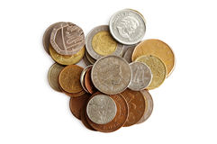Coins of diferent countries Stock Photo