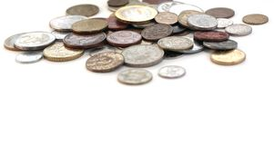 Coins from different countries Royalty Free Stock Image