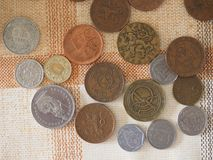 Coins from different countries Royalty Free Stock Photography