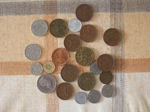 Coins from different countries Royalty Free Stock Photos
