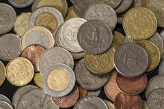 Coins from different countries. Nice money background. Coins from different countries. Nice money background royalty free stock image