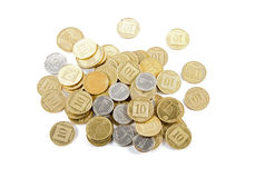 Coins of different denominations . Stock Photography