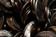 Coins in disarray Stock Photos