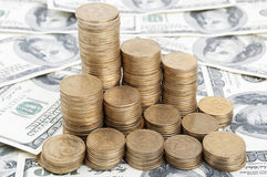 coins dolars Royaltyfri Foto